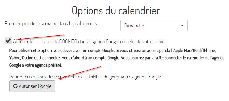Calendrier A Cocher.Synchroniser Avec Le Calendrier De Google Calendar